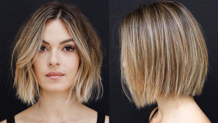 Modele de coiffure courte, quelle coiffure pour un visage rond, carré pour femme agée