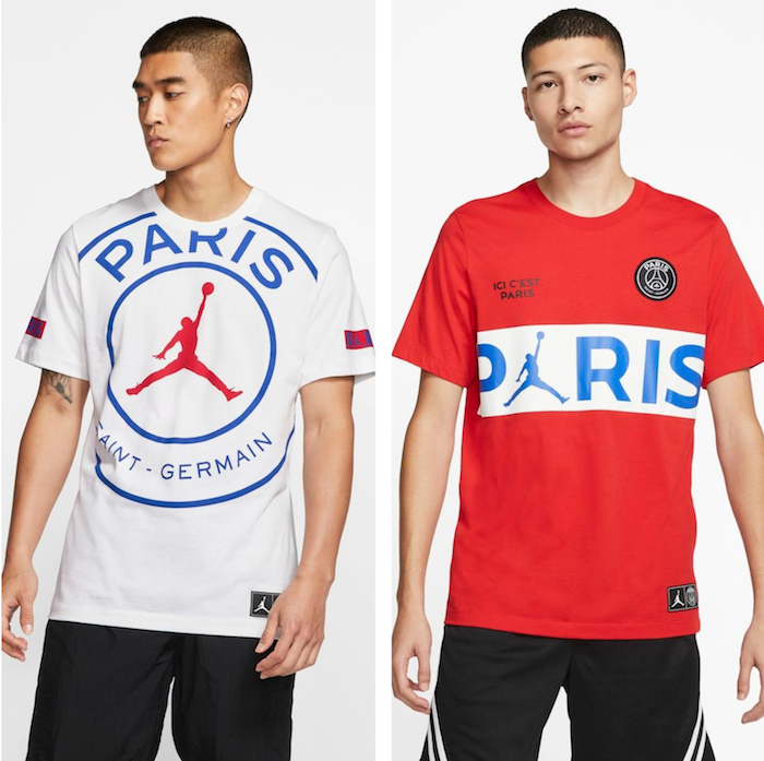 psg jordan air paris saint germain, idée maillot tenue de sport original de marque