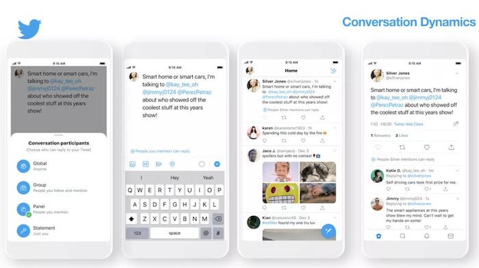Au salon CES 2020 de Las Vegas, Twitter annonce le test d'une nouvelle option permettant de contrôler l'accès aux réponses aux tweets