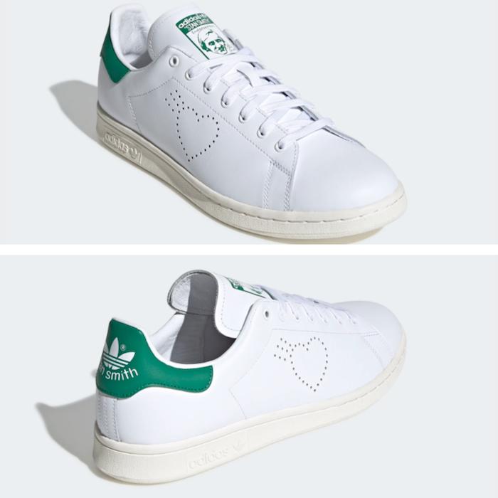 Adidas Stan Smith par Human Made, un coeur remplace les trois bandes pour la Saint Valentin 2020
