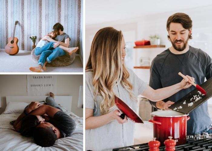 chose a faire en couple, s'amuser en couple en préparant un dîner facile, comment passer son temps en couple chez soi