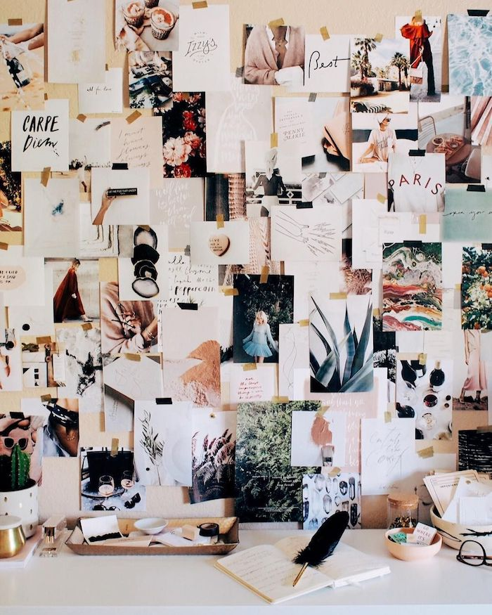 Mur tableau de vision, sandrine muller bohard tableau de visualisation, bureau mur décoration