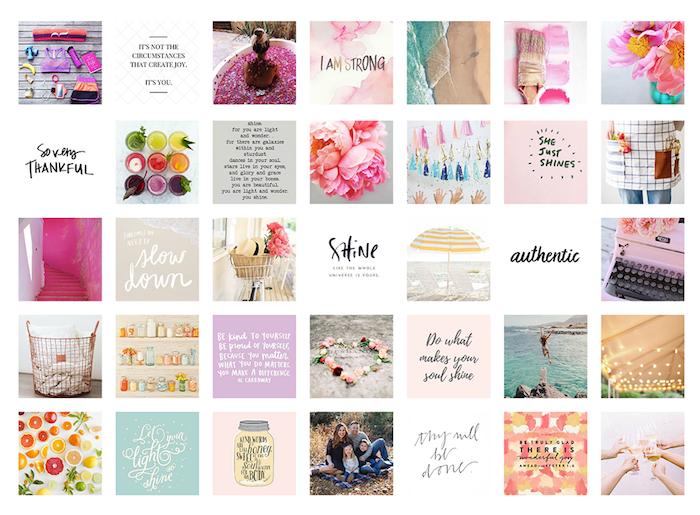 Collage cadre photo pele mele avec photographies inspiratrices et citations, comment faire un tableau pour visualiser