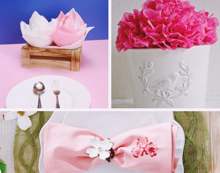 comment faire une decoration de table en serviettes de papier pliage serviette en fleur lotus facile technique pliage origami