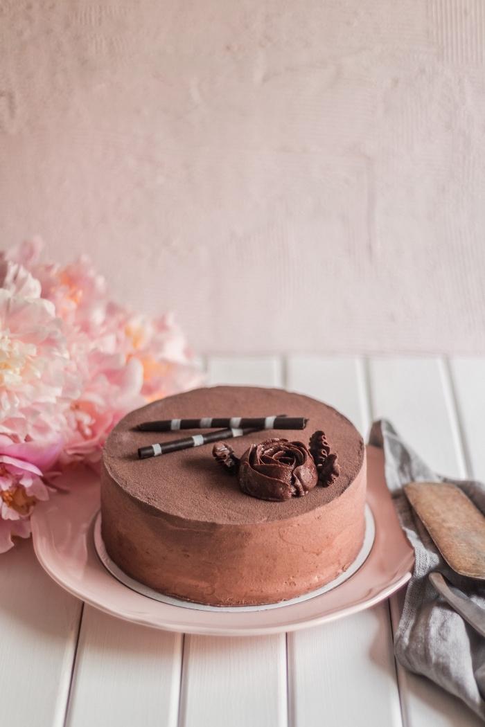 recette de gâteau facile au chocolat pour la fête de la Saint Valentin, quel dessert pour le menu saint valentin