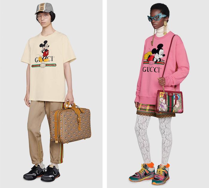 à l'occasion du nouvel an chinois, Gucci s'associe à Disney pour une capsule Disney X Gucci pour célébrer l'année de la souris