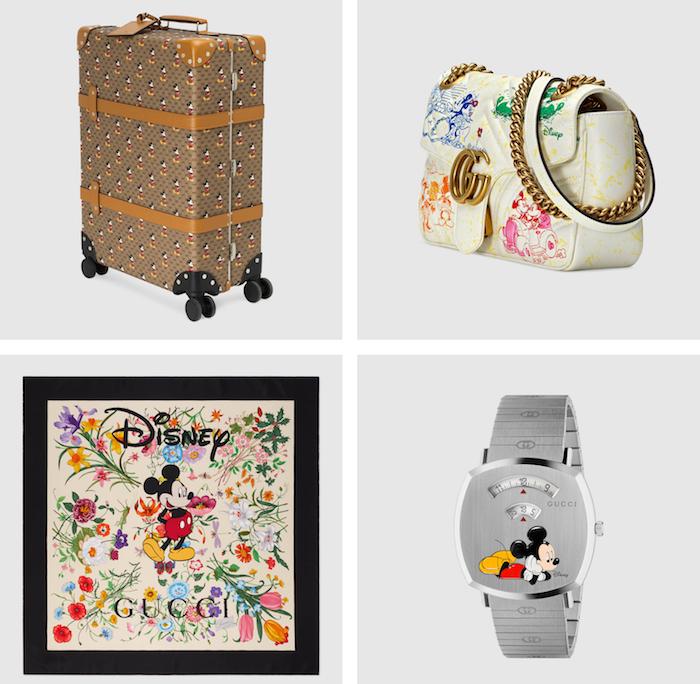 Gucci reprend ses imprimés agrémentés de Mickey Mouse à l'occasion d'un collection Disney X Gucci pour le nouvel an chinois 2020