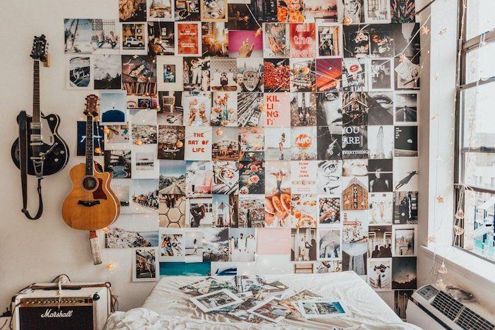 Guitare sur le mur galerie de photos inspiration, citations sur le mur et photo art, comment décorer sa chambre, cadre photo personnalisé vision tableau