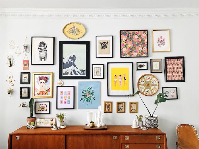 Mur galerie carde photos diy déco chambre, tableau comment se motiver à faire quelque chose