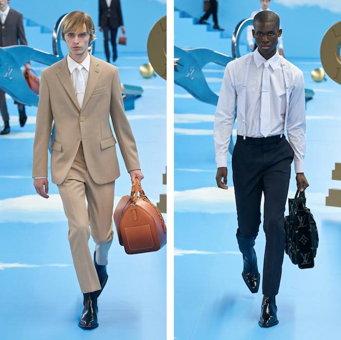 """Virgil Abloh a présenté sa collection """"Heaven On Earth"""" lors du défilé Louis Vuitton de la Fashion Week de Paris"""