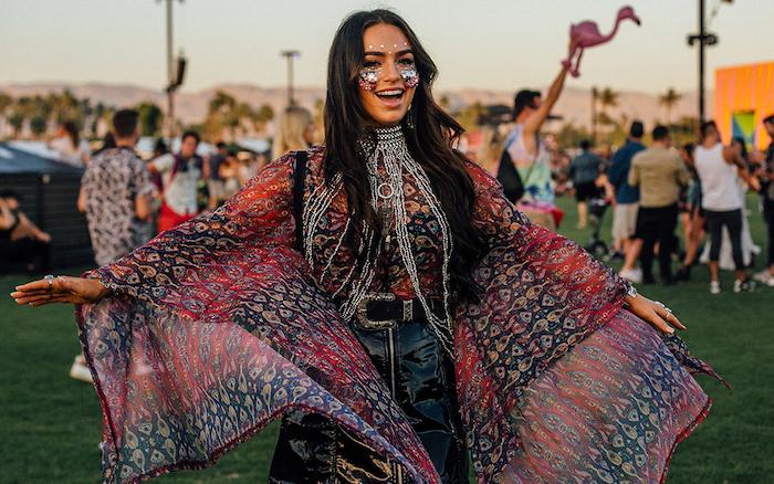 Coachella style tenue magnifique, deguisement carnaval enfant, les plus beaux costumes de carnaval