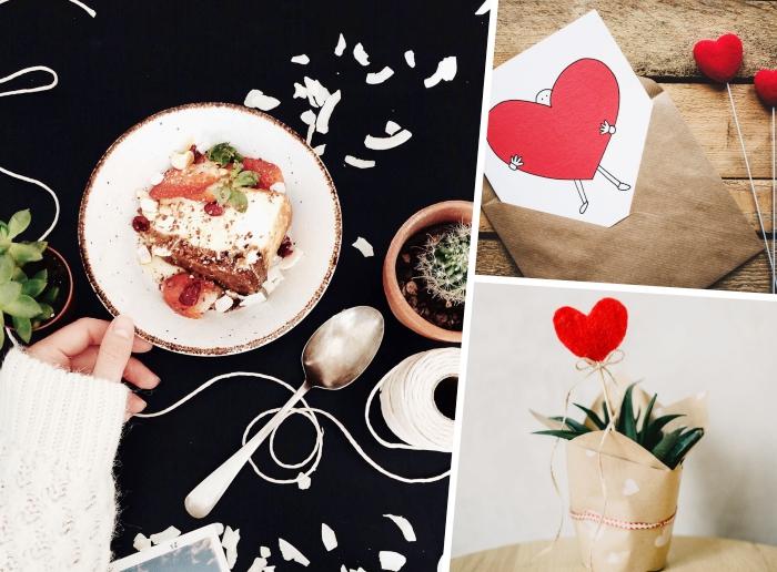recette diner romantique à la maison, idée de gâteau facile à faire pour la saint valentin aux biscuits et fromage blanc