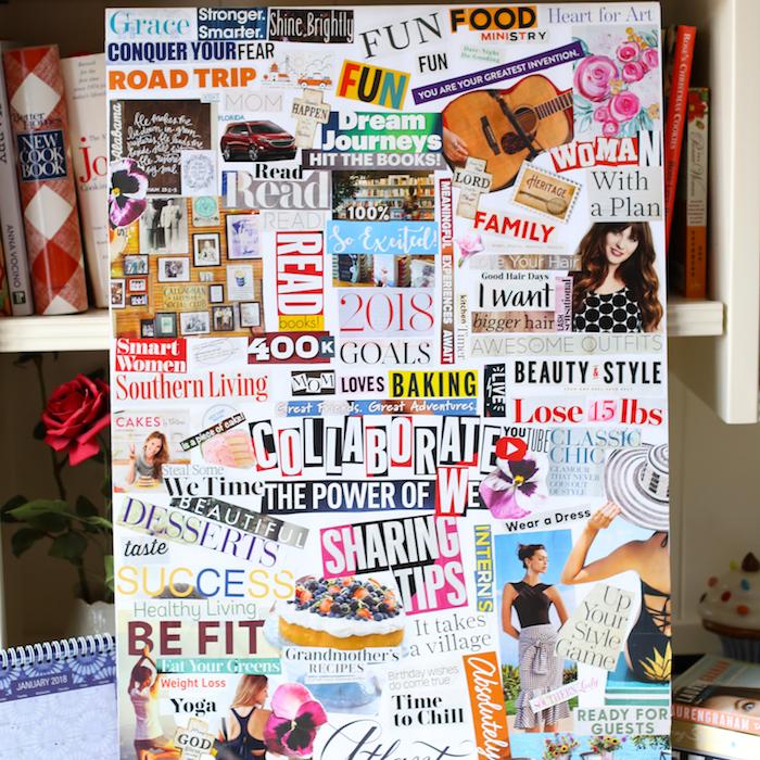 Collaborations et plus de followers sur le tableau d'une blogueuse, idée créative, faire une visualisation de ses rêves pour se motiver