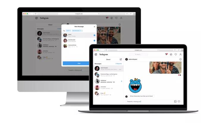 Instagram a débuté la phase de test de la version web de la messagerie Direct