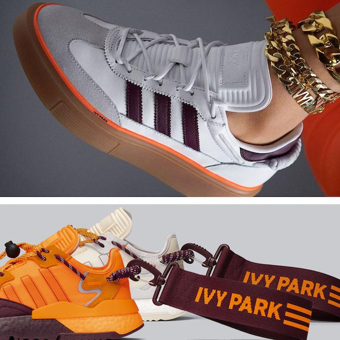 La collection IVY Parkx Adidas par Beyoncé contient trois paires de sneakers, dont des Ultra Boosts et des Sleek Super 72
