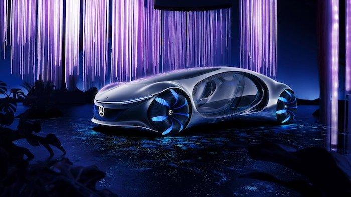 Mercedes a dévoilé son concept-car inspiré du film Avatar au CES 2020 , la Vision AVTR