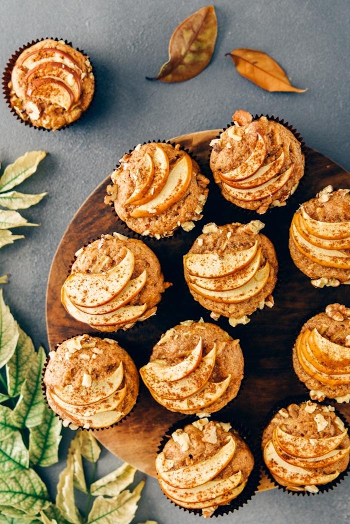 muffins sans gluten à la pomme et cannelle, recette regime facile à faire pour petit dejeuner ou gouter
