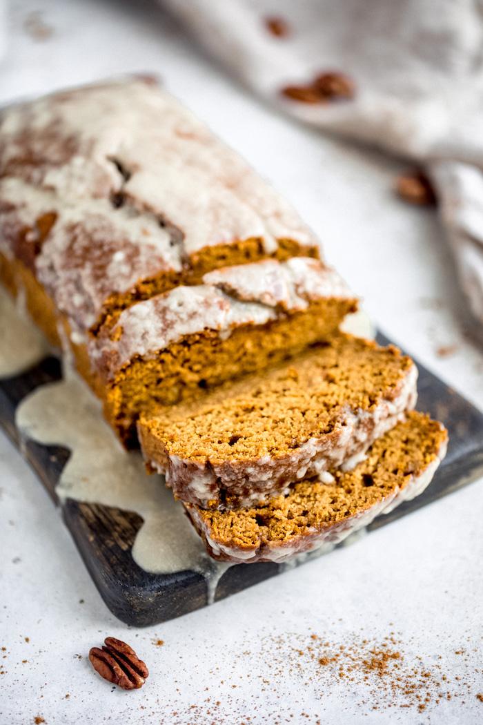 recette regime simple, pain à la citrouille sans gluten, idée pour votre menu de la semaine sain