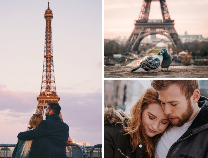 quel endroit romantique à Paris, sortie en amoureux au centre ville, idée promenade romantique au coucher de soleil