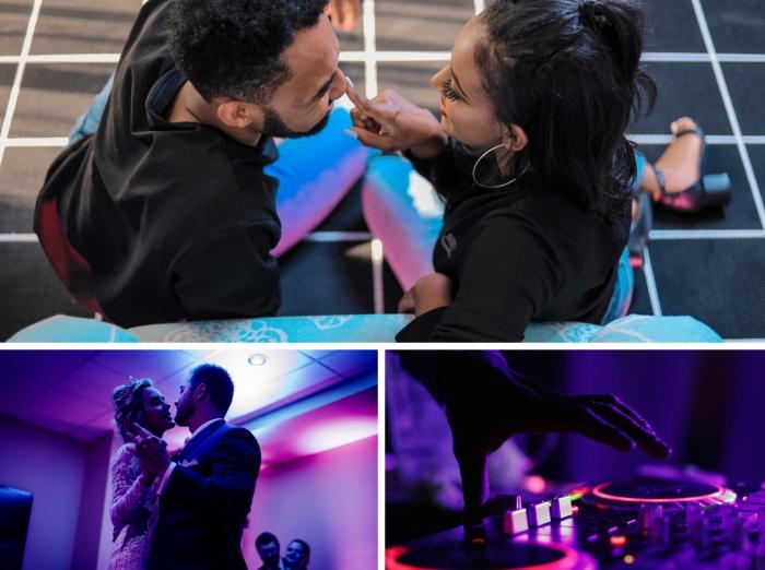 activités à faire en couple, couple amoureux habillés en vêtements confortables pour danser, idée comment s'amuser en couple
