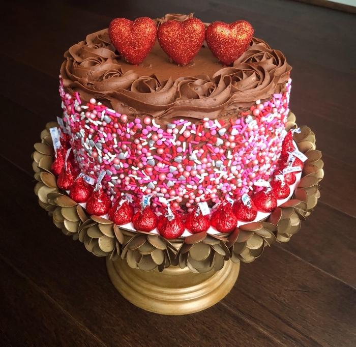 recette de gâteau au chocolat facile et rapide pour la fête de la Saint Valentin, recette dessert pour le repas amoureux
