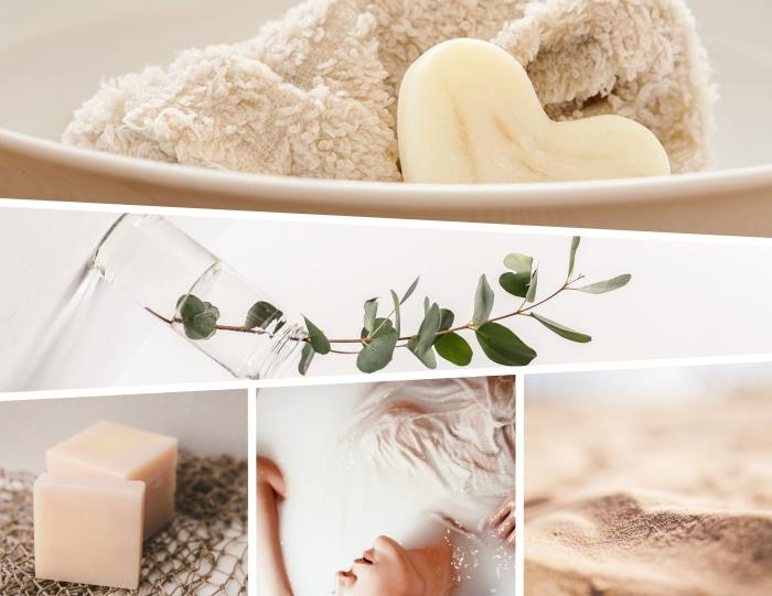 cosmétiques solides comme soins beauté plus sains et éco-friendly, savon solide en ingrédients sains sans eau