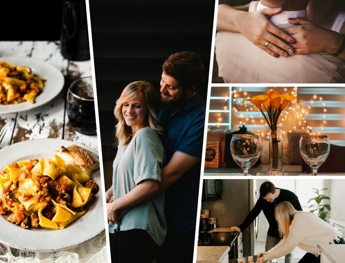 activités à faire en couple, préparer un dîner facile en couple dans sa maison avec une déco romantique et lumineuse