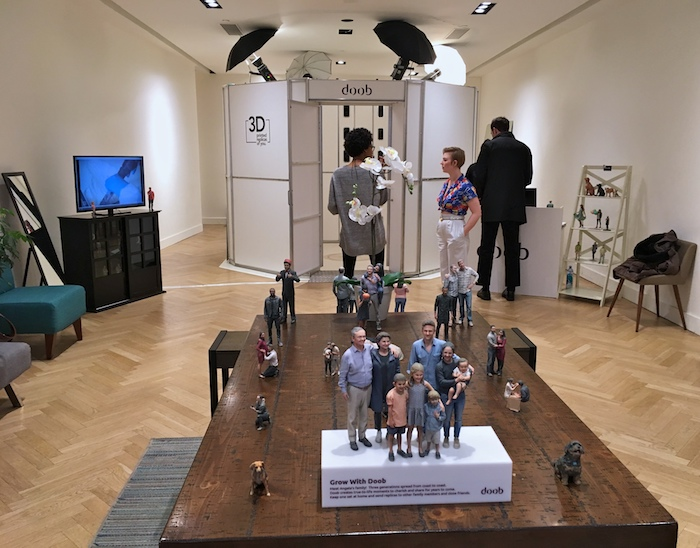 Selfie booth, scaner sa figure ou sa tete pour creer une sculpture 3D de vous et votre famille
