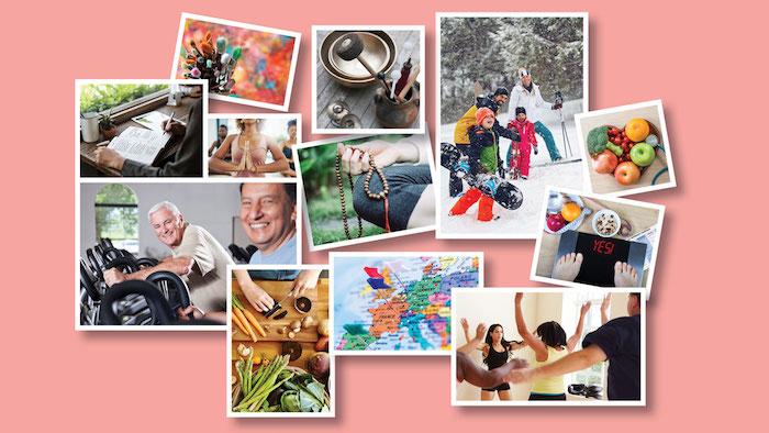 Idée tableau avec photos des gens qui font de sport pour celui qui veut cela dans sa vie, comment décorer sa chambre, cadre photo personnalisé vision tableau