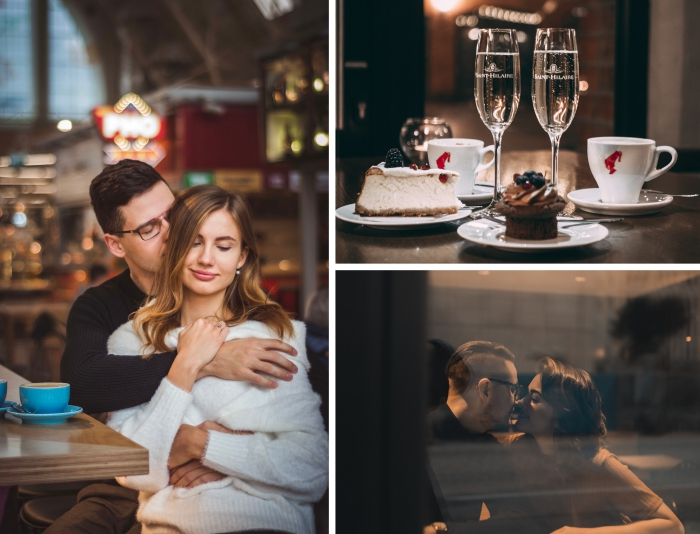 comment bien organiser une sortie en amoureux, idée pour s'amuser en couple au centre ville dans un café romantique