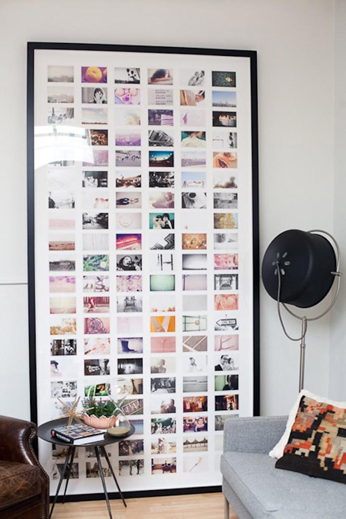 Collage avec photos en grand cadre, que faire quand on s'ennuie, tableau motivation, comment décorer sa chambre