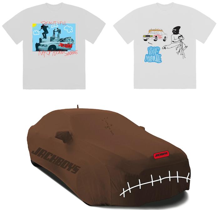 EN plus de tee shirts et hoodies, le merch tiré de Jackboys propose des produits pour voitures en série limitée