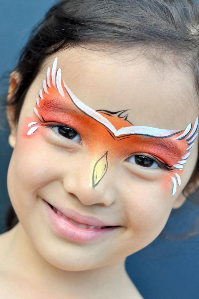 idée de maquillage halloween facile pour enfant, quel déguisement halloween de dernière minute pour enfant