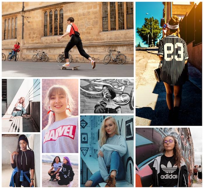 Collage tenue année 90, les tendances qui se répètent aujourd'hui, idée comment s'habiller pour avoir de la swag