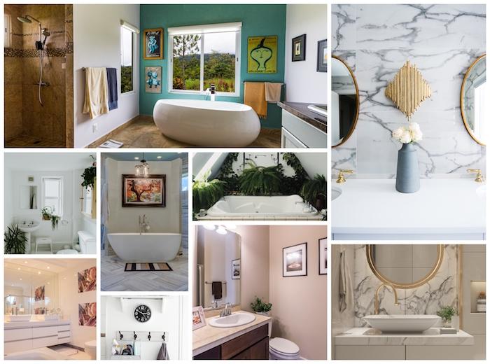 Collage photo quelle décoration murale salle de bain choisir, idée simple et pratique pour faire une déco jolie