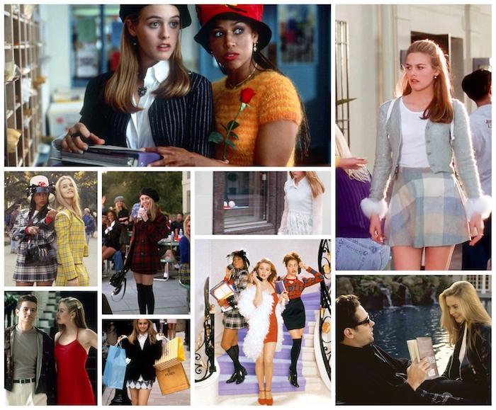 Clueless film iconique des années quatre vingt dix, idée déguisement année 90, vetement vintage femme chic tenue