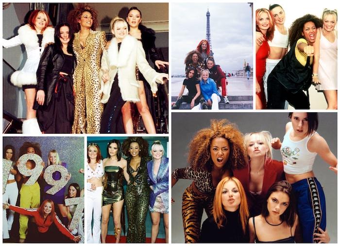 Spice girls mode année 90, s'inspirer du style vetement vintage femme, groupe musicale filles, idée tenue 90