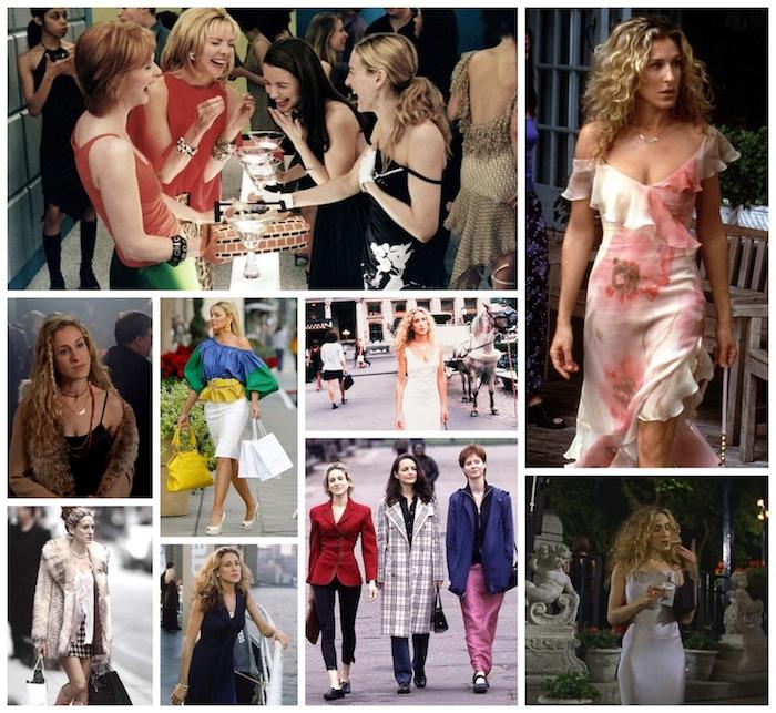 Sarah Jessica Parker, tenues style année 90, tenue vintage femme, modele à suivre les quatre amies iconiques