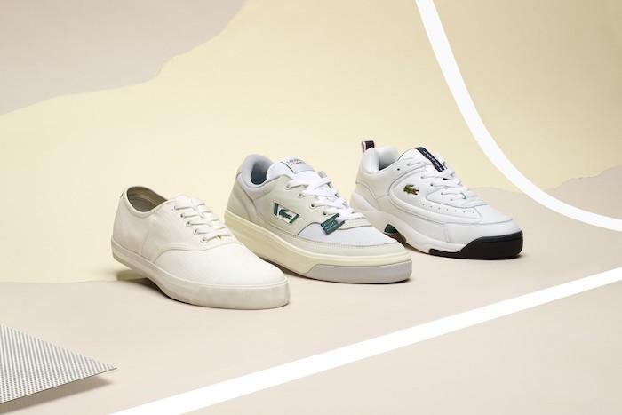 La marque au crocodile sort le pack Lacoste Heritage avec trois modèles de chaussures vintage