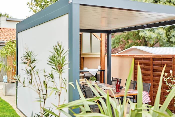 ombrager sa terrasse, idee pour couvrir sa terrasse d une pergola terrasse pour créer un coin repas