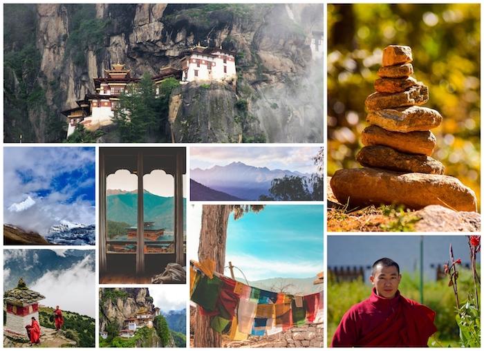 Bhutan destination à visiter cette année, pays à visiter mystique, vue montagne, monastere de roche