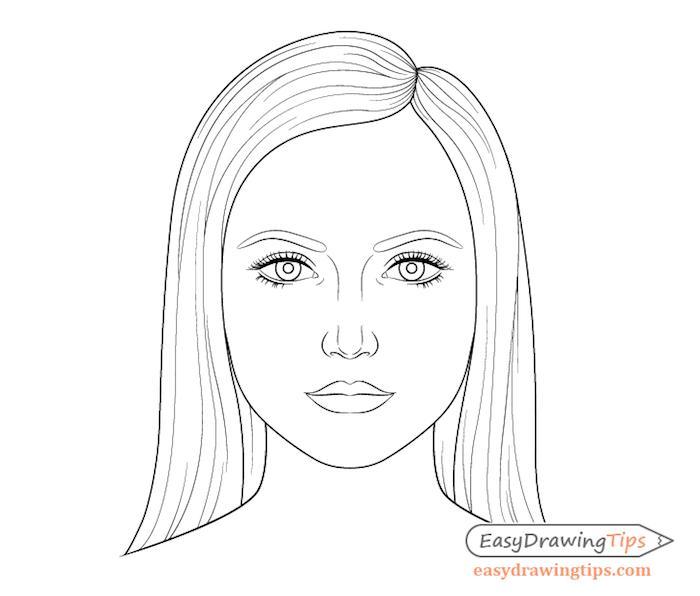comment dessiner des cils de femme, idee esquise au crayon dessin facile a faire pour debutant tuto