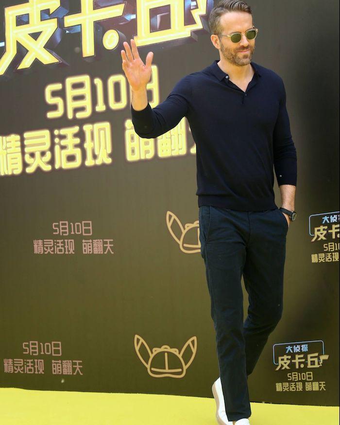 Magnifique idée tenue homme casual chic, tenue de soirée homme tendances 2020, Ryan Reynolds occasion spéciale tenue chic décontractée