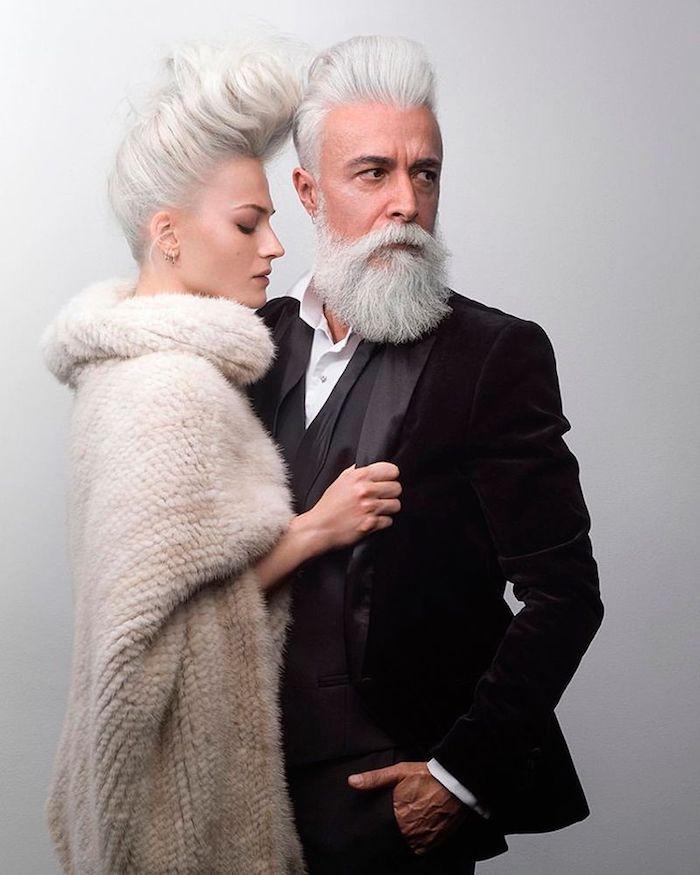 Couple plus 40 ans, idée style vestimentaire homme et femme chic, look homme 2020 vêtements élégants