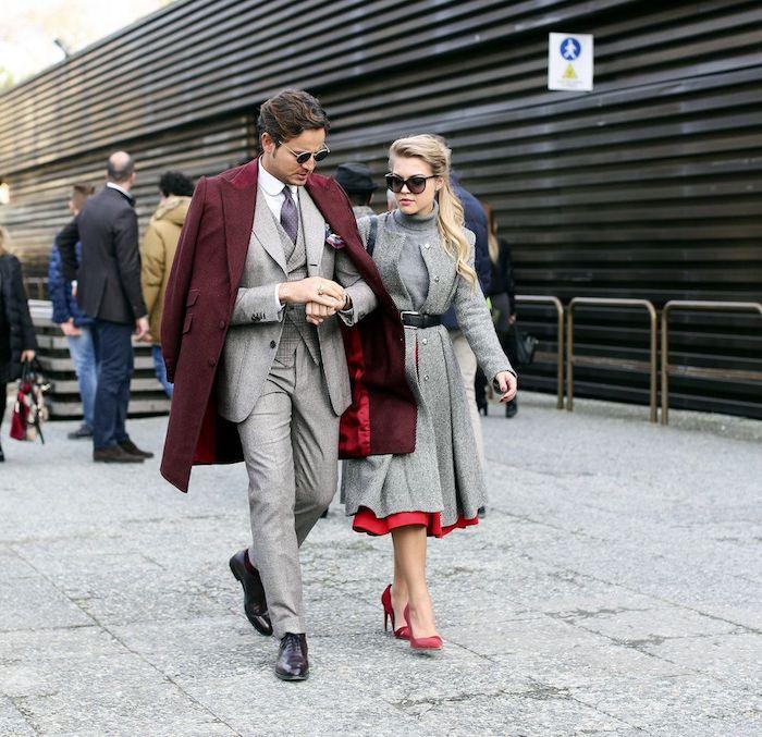 Tenue vintage à la mode, idée comment coordonner ses tenues pour couple, look homme, style vestimentaire casual chic homme classe