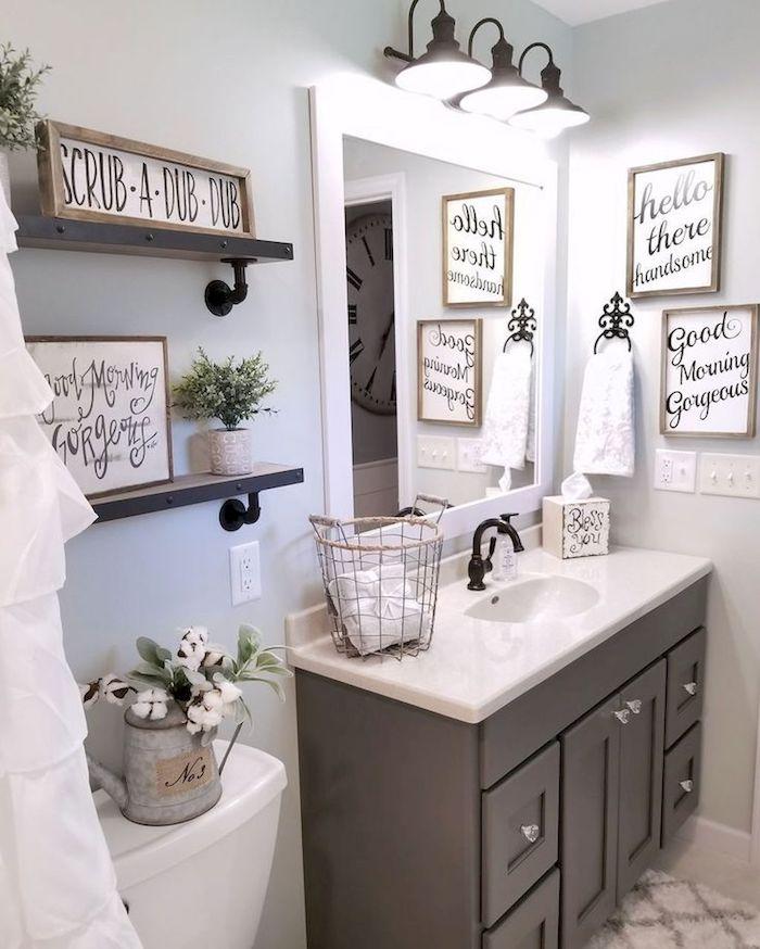 Tableaux pour décorer les murs de la salle de bain, stickers carrelage salle de bain, ronde ou carré mur salle de bain