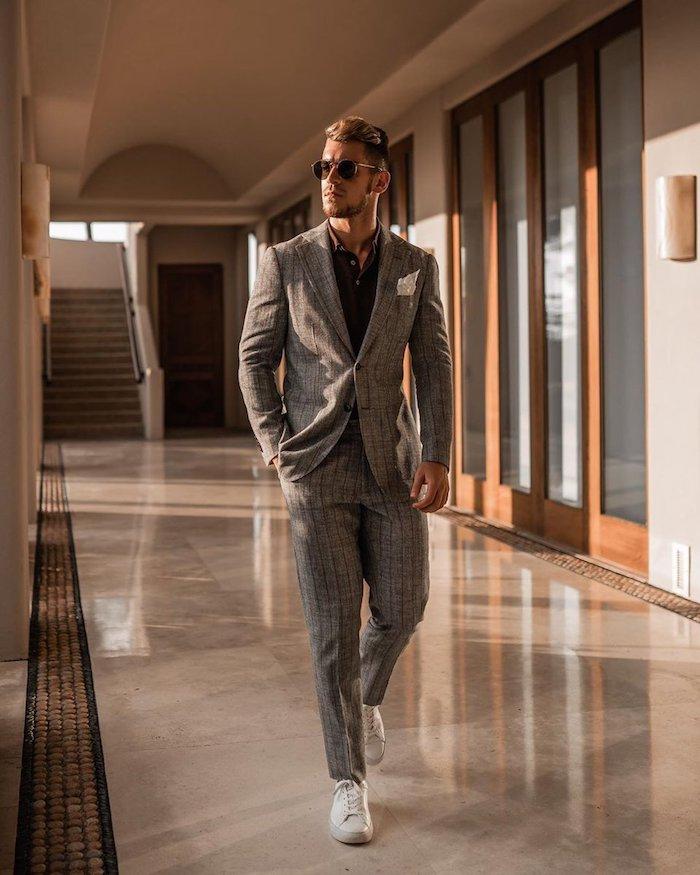 Tailleur homme chic, idée comment adopter le look homme 2020, comment s'habiller bien et avoir de classe