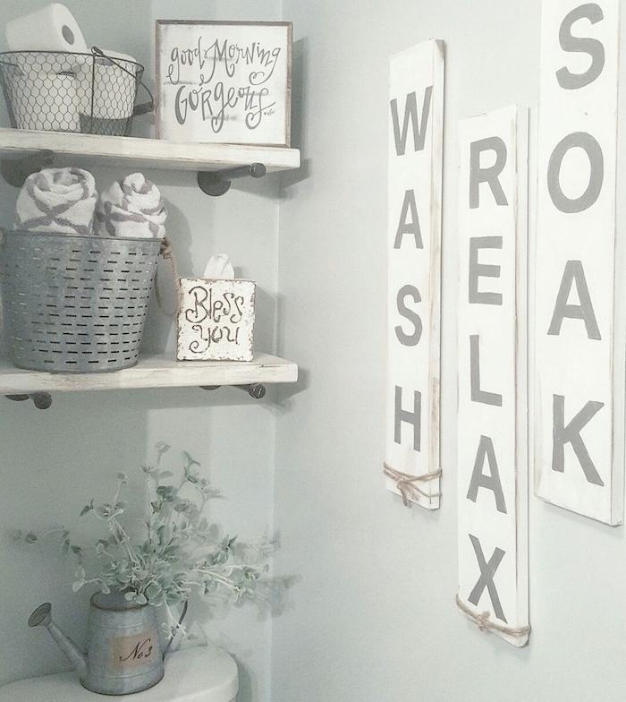 Mignon écriteau relaxation inspiration salle de bain tendance, simple déco pour renouveler
