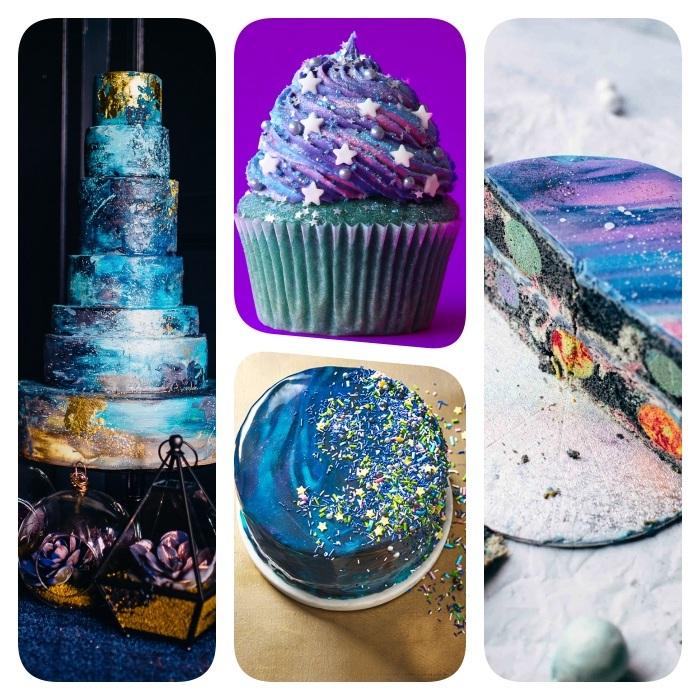 Tendance gâteau galaxie ou comment faire un gâteau d'anniversaire «extraterrestre»