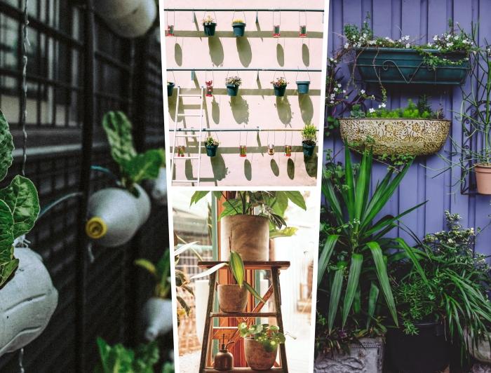 idées comment réaliser un jardin vertical dans les petits espaces d'extérieur ou sur un balcon, déco de jardin moderne